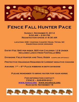 hunter pace fall
