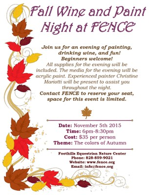 Wine and Paint Flyer